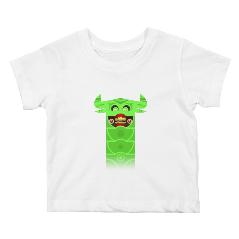 Mr. Yuchyux (green smiling) Kids Baby T-Shirt by BEeow's Artist Shop