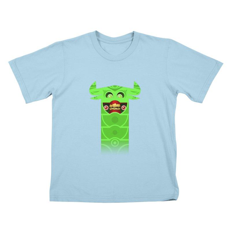 Mr. Yuchyux (green smiling) Kids T-Shirt by BEeow's Artist Shop