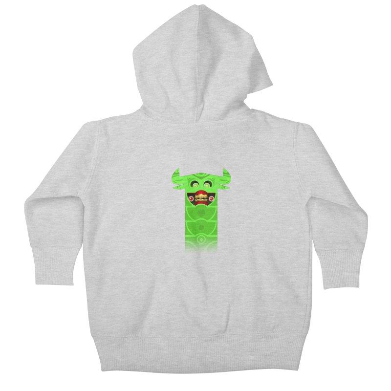 Mr. Yuchyux (green smiling) Kids Baby Zip-Up Hoody by BEeow's Artist Shop