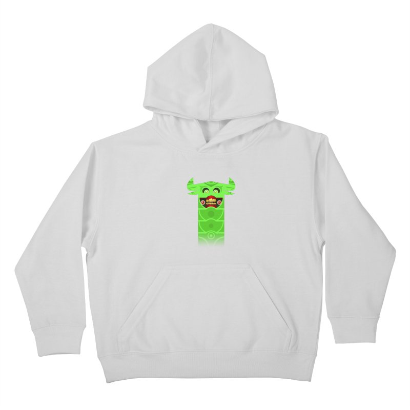 Mr. Yuchyux (green smiling) Kids Pullover Hoody by BEeow's Artist Shop