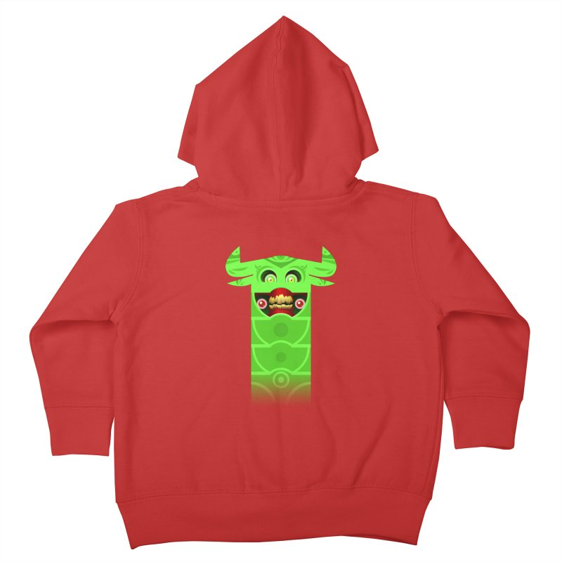 Mr. Yuchyux (green smiling) Kids Toddler Zip-Up Hoody by BEeow's Artist Shop