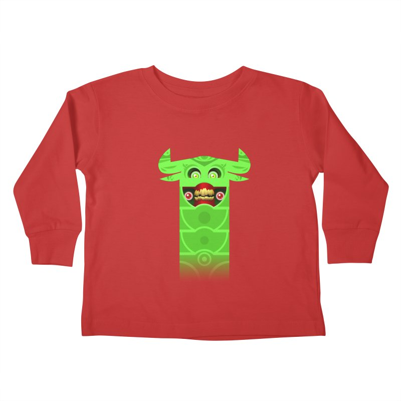 Mr. Yuchyux (green smiling) Kids Toddler Longsleeve T-Shirt by BEeow's Artist Shop