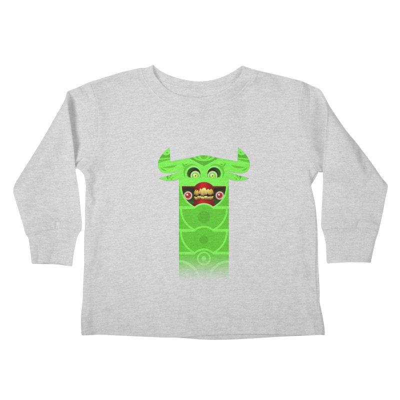 Mr. Yuchyux (green smiling) Kids Toddler Longsleeve T-Shirt by BEeow's Artist Shop
