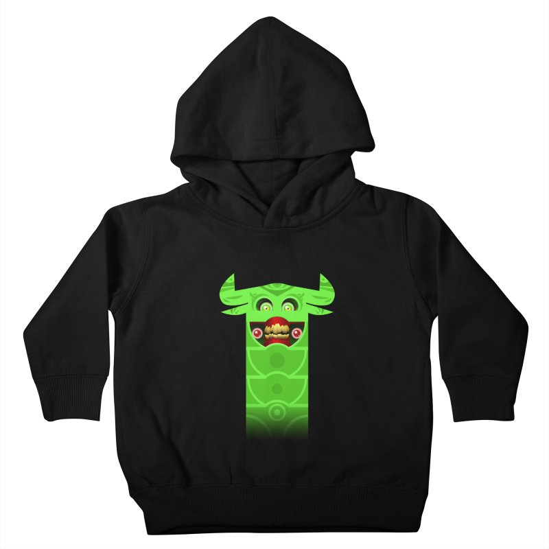 Mr. Yuchyux (green smiling) Kids Toddler Pullover Hoody by BEeow's Artist Shop