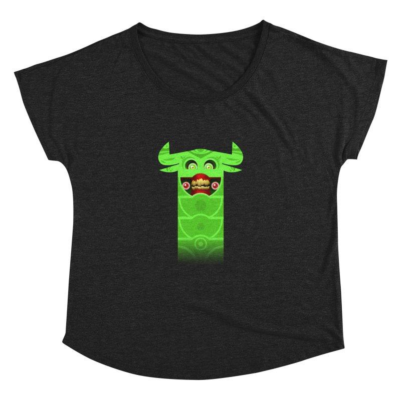 Mr. Yuchyux (green smiling) Women's Dolman Scoop Neck by BEeow's Artist Shop