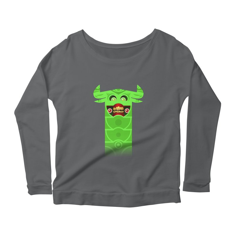 Mr. Yuchyux (green smiling) Women's Longsleeve Scoopneck  by BEeow's Artist Shop