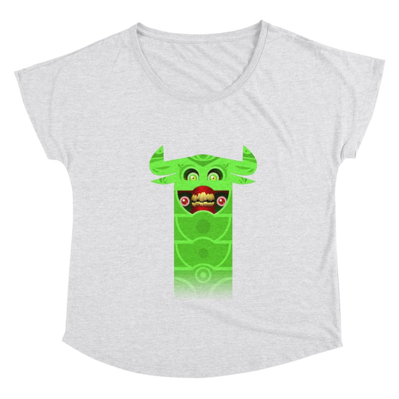 Mr. Yuchyux (green smiling) Women's Dolman Scoop Neck by BEeow's Artist Shop