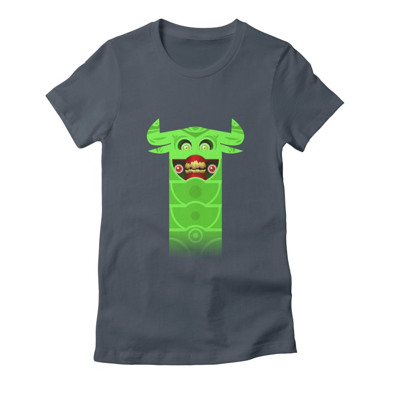 Mr. Yuchyux (green smiling) Women's T-Shirt by BEeow's Artist Shop