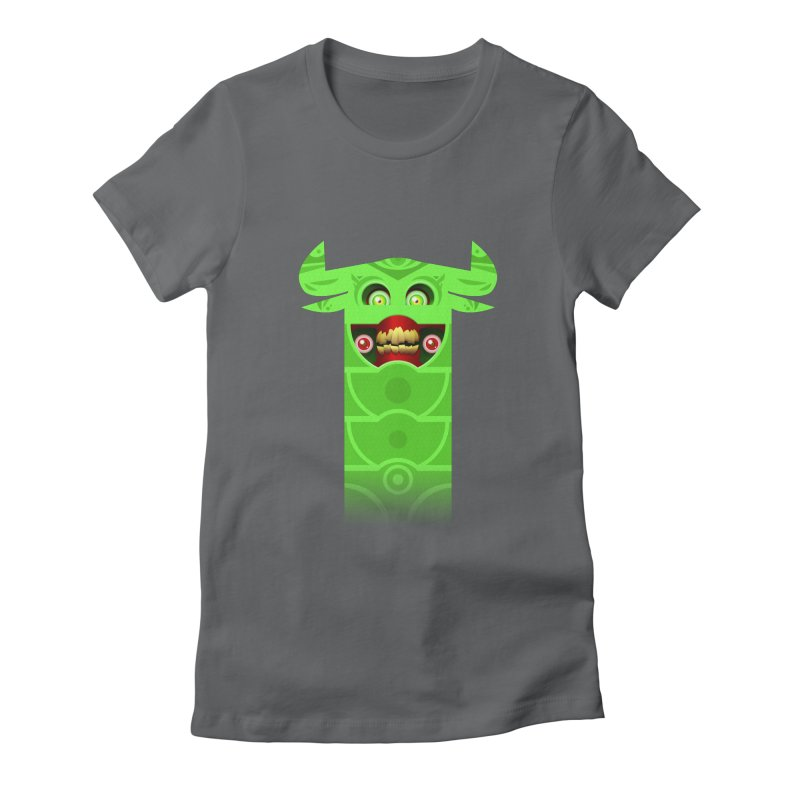 Mr. Yuchyux (green smiling) Women's Fitted T-Shirt by BEeow's Artist Shop