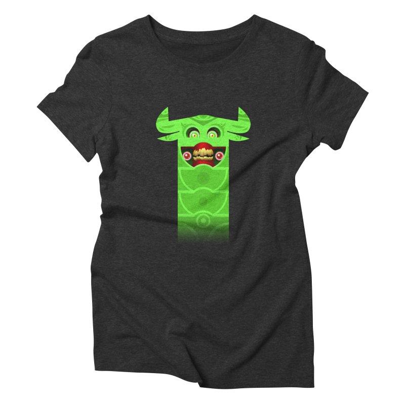 Mr. Yuchyux (green smiling) Women's Triblend T-Shirt by BEeow's Artist Shop
