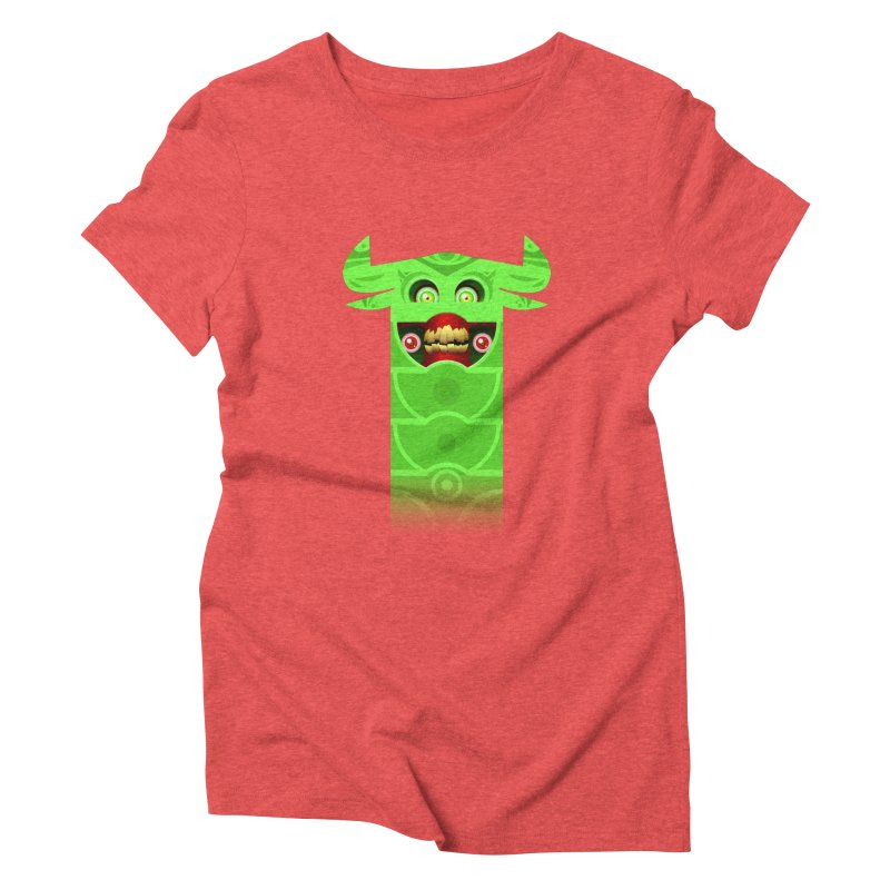 Mr. Yuchyux (green smiling) Women's Triblend T-Shirt by BEeow's Artist Shop