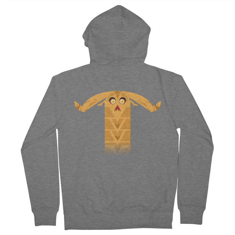 Mr. Yuchyux (orange frowning) Women's French Terry Zip-Up Hoody by BEeow's Artist Shop