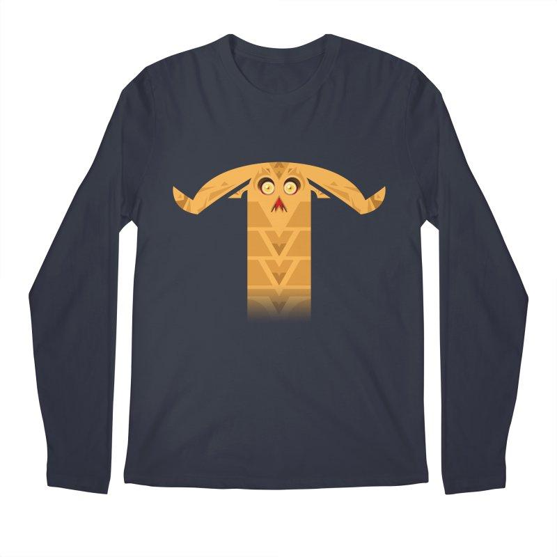Mr. Yuchyux (orange frowning) Men's Regular Longsleeve T-Shirt by BEeow's Artist Shop