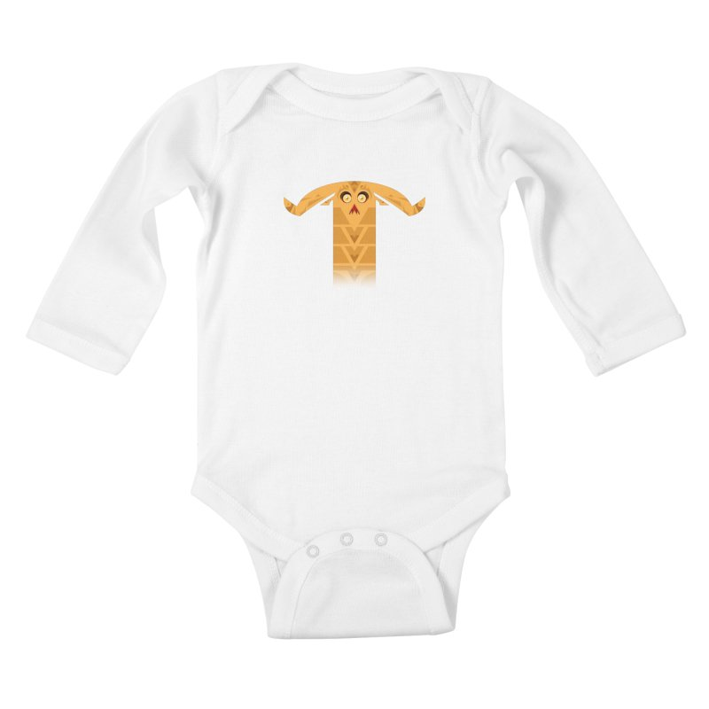 Mr. Yuchyux (orange frowning) Kids Baby Longsleeve Bodysuit by BEeow's Artist Shop