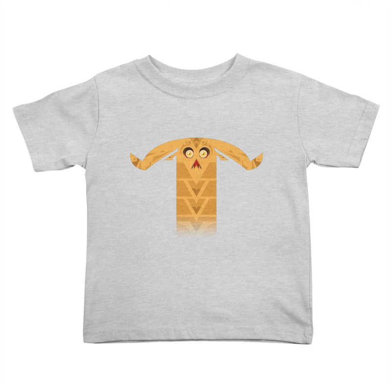 Mr. Yuchyux (orange frowning) Kids Toddler T-Shirt by BEeow's Artist Shop