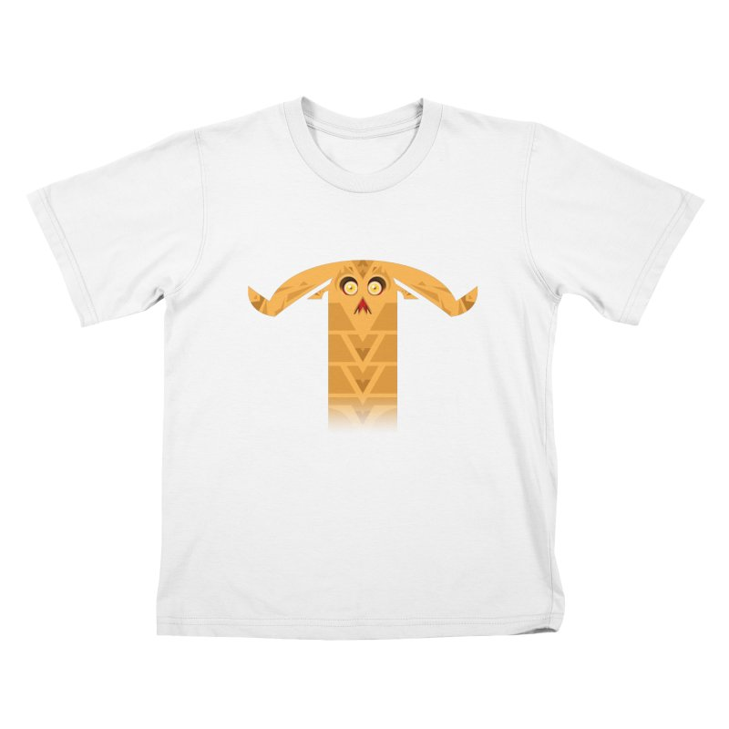 Mr. Yuchyux (orange frowning) Kids T-Shirt by BEeow's Artist Shop