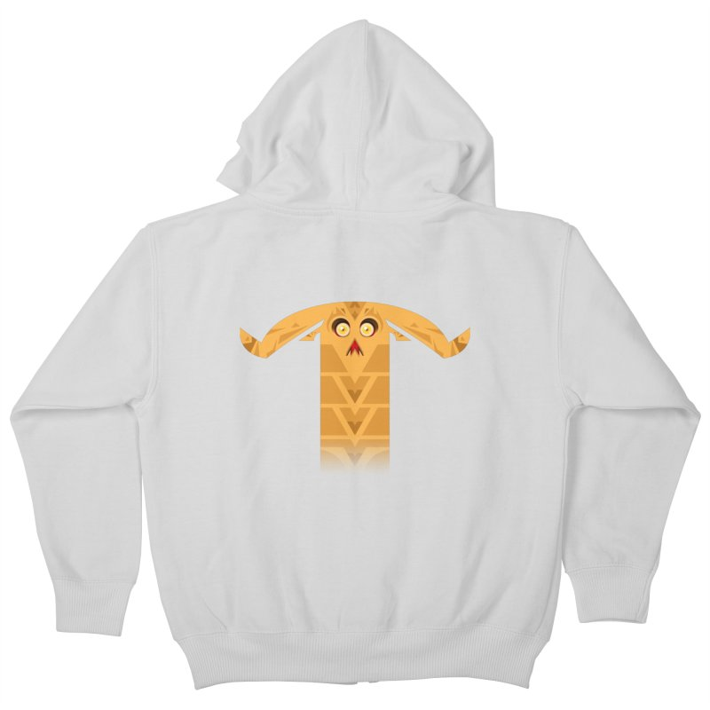 Mr. Yuchyux (orange frowning) Kids Zip-Up Hoody by BEeow's Artist Shop