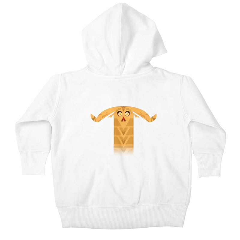 Mr. Yuchyux (orange frowning) Kids Baby Zip-Up Hoody by BEeow's Artist Shop