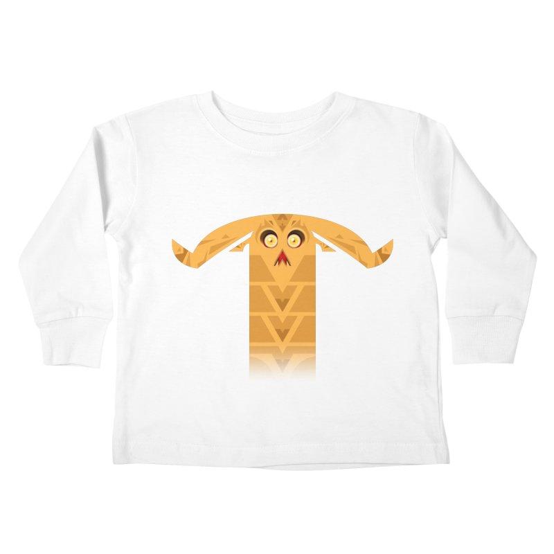 Mr. Yuchyux (orange frowning) Kids Toddler Longsleeve T-Shirt by BEeow's Artist Shop
