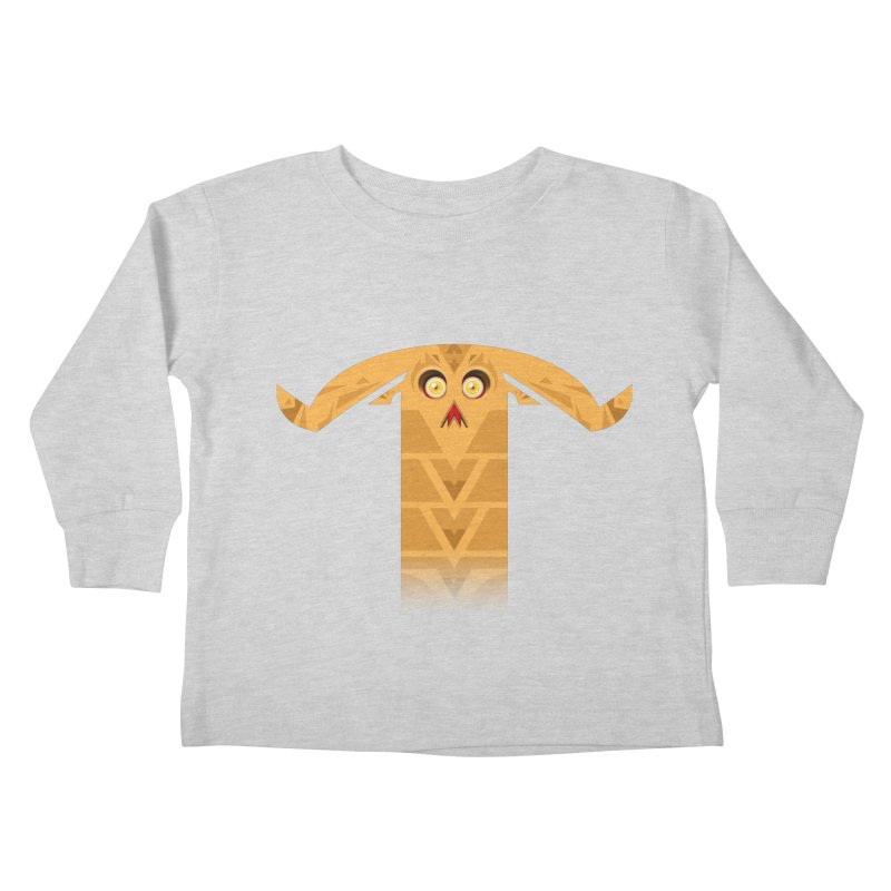 Mr. Yuchyux (orange frowning) Kids Toddler Longsleeve T-Shirt by BEeow's Artist Shop