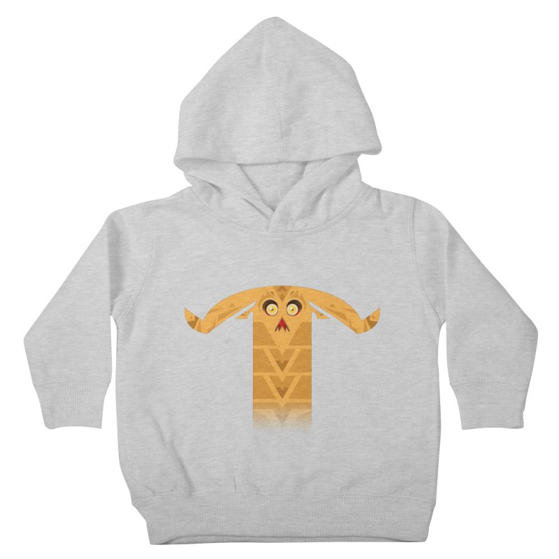 Mr. Yuchyux (orange frowning) Kids Toddler Pullover Hoody by BEeow's Artist Shop