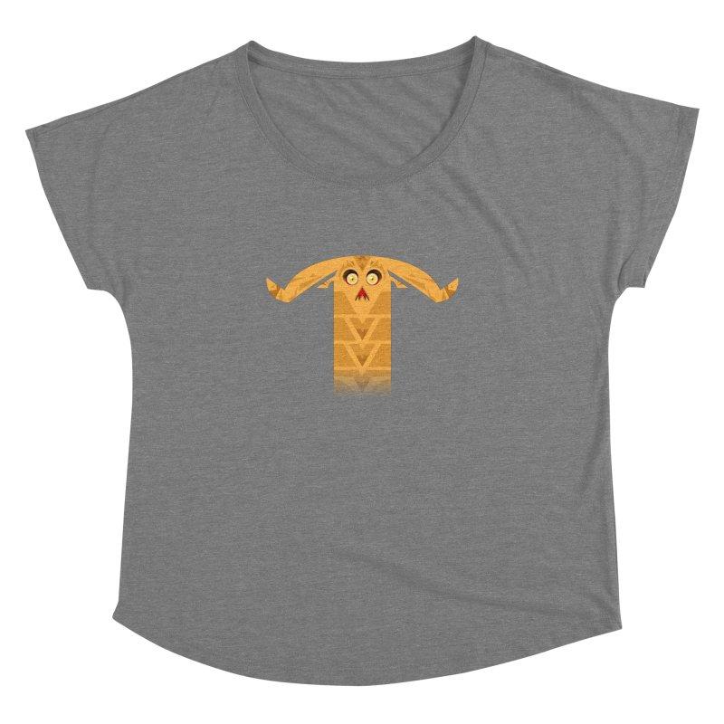 Mr. Yuchyux (orange frowning) Women's Scoop Neck by BEeow's Artist Shop