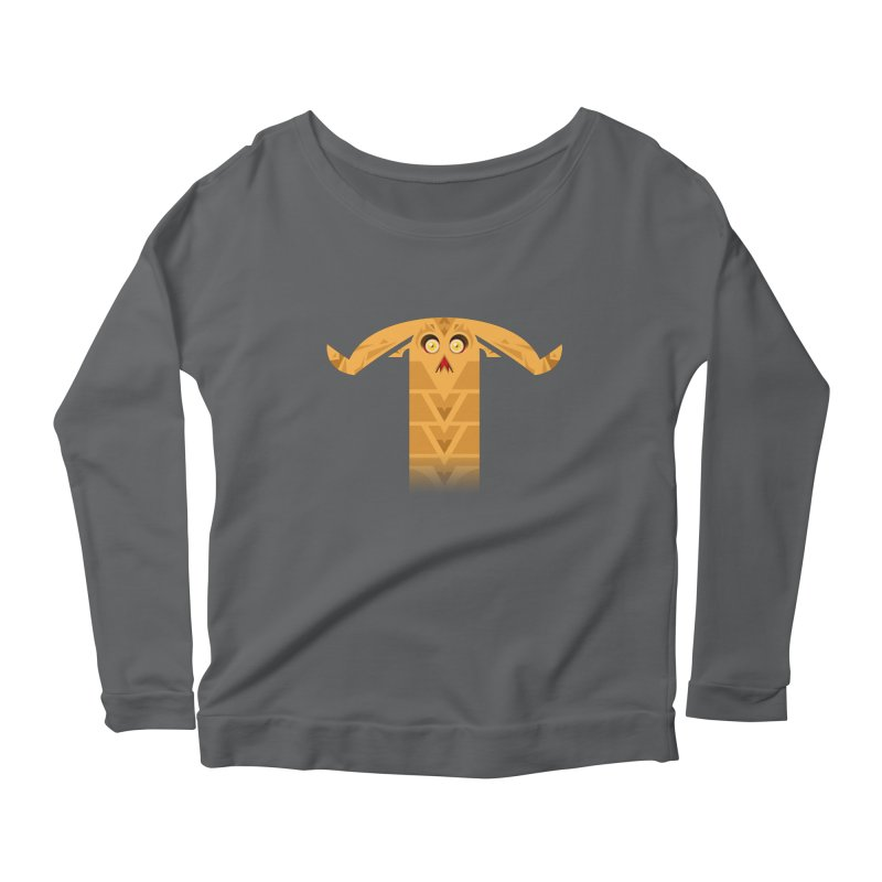 Mr. Yuchyux (orange frowning) Women's Longsleeve Scoopneck  by BEeow's Artist Shop