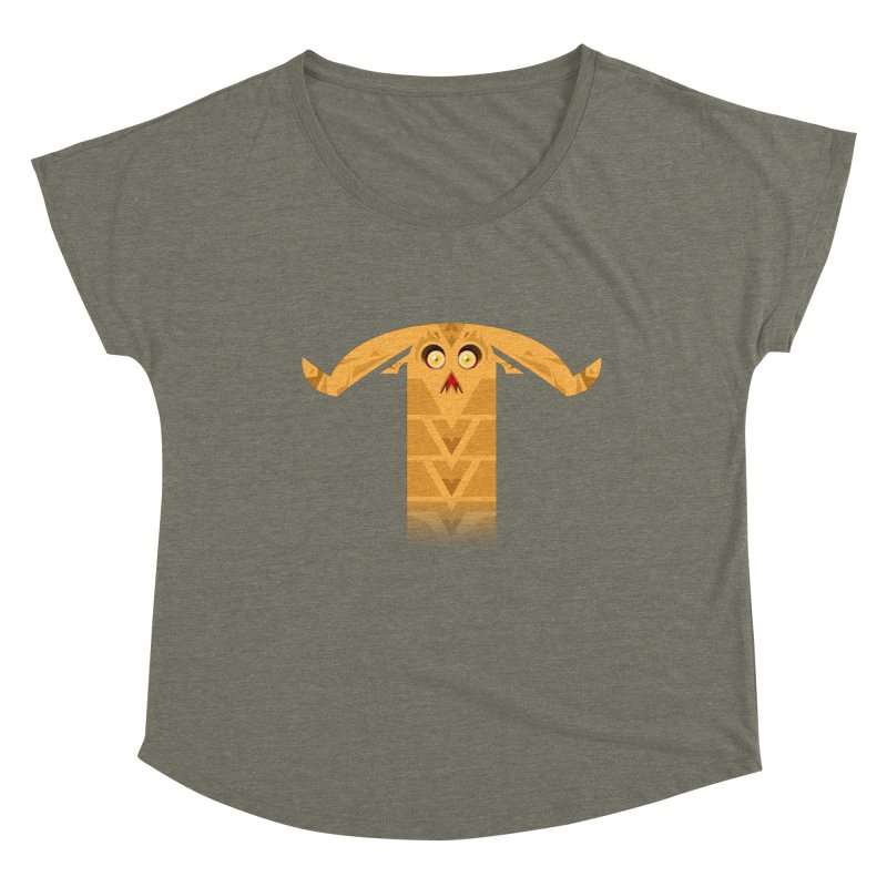 Mr. Yuchyux (orange frowning) Women's Dolman Scoop Neck by BEeow's Artist Shop