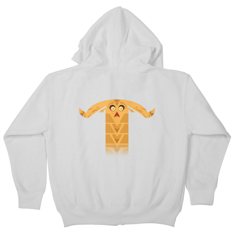 Mr. Yuchyux (orange frowning) Kids Zip-Up Hoody by BEeow's Artist Shop