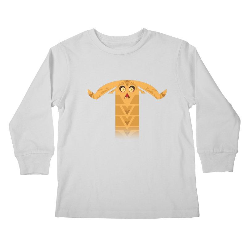 Mr. Yuchyux (orange frowning) Kids Longsleeve T-Shirt by BEeow's Artist Shop