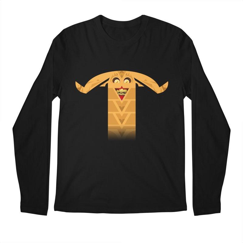 Mr. Yuchyux (orange smiling) Men's Longsleeve T-Shirt by BEeow's Artist Shop