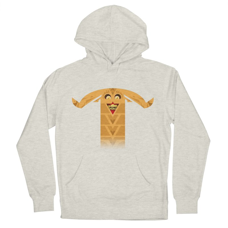 Mr. Yuchyux (orange smiling) Men's French Terry Pullover Hoody by BEeow's Artist Shop