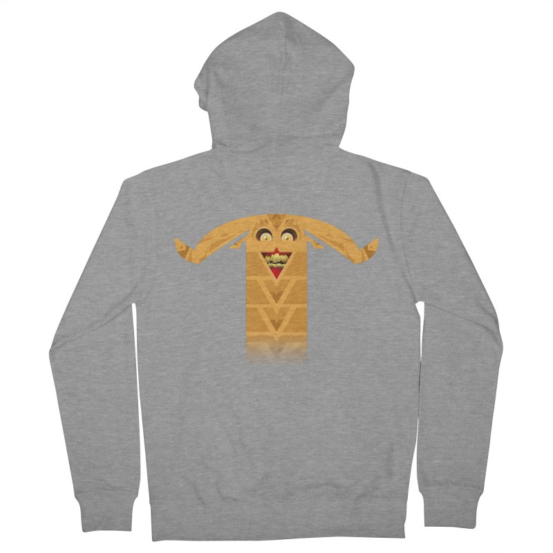 Mr. Yuchyux (orange smiling) Women's French Terry Zip-Up Hoody by BEeow's Artist Shop