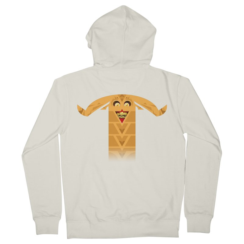 Mr. Yuchyux (orange smiling) Men's French Terry Zip-Up Hoody by BEeow's Artist Shop