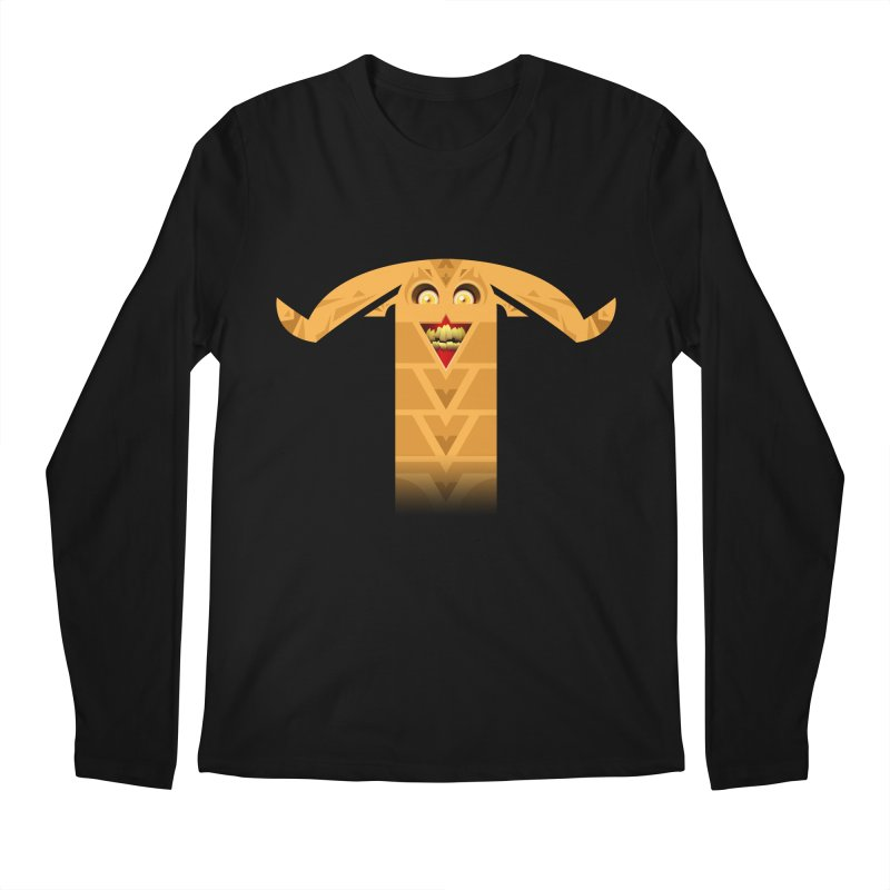Mr. Yuchyux (orange smiling) Men's Longsleeve T-Shirt by BEeow's Artist Shop