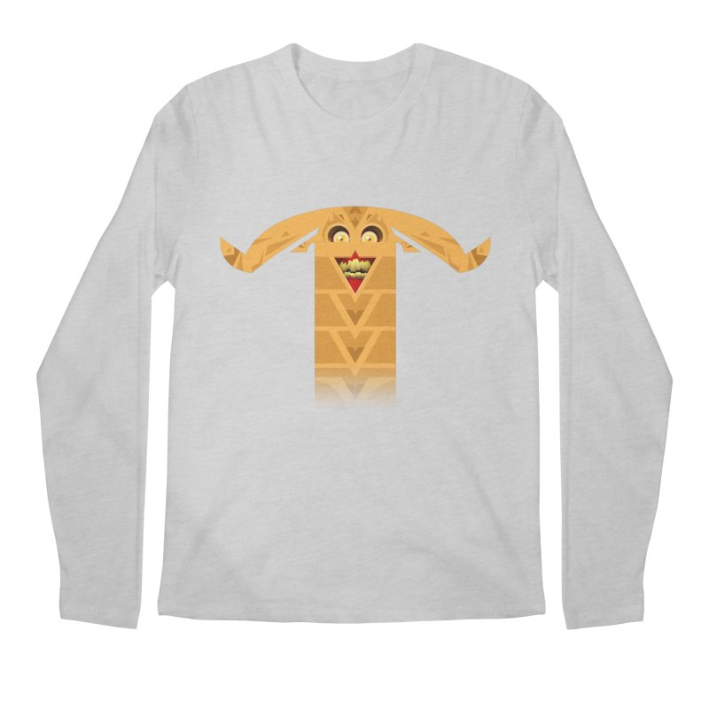 Mr. Yuchyux (orange smiling) Men's Regular Longsleeve T-Shirt by BEeow's Artist Shop