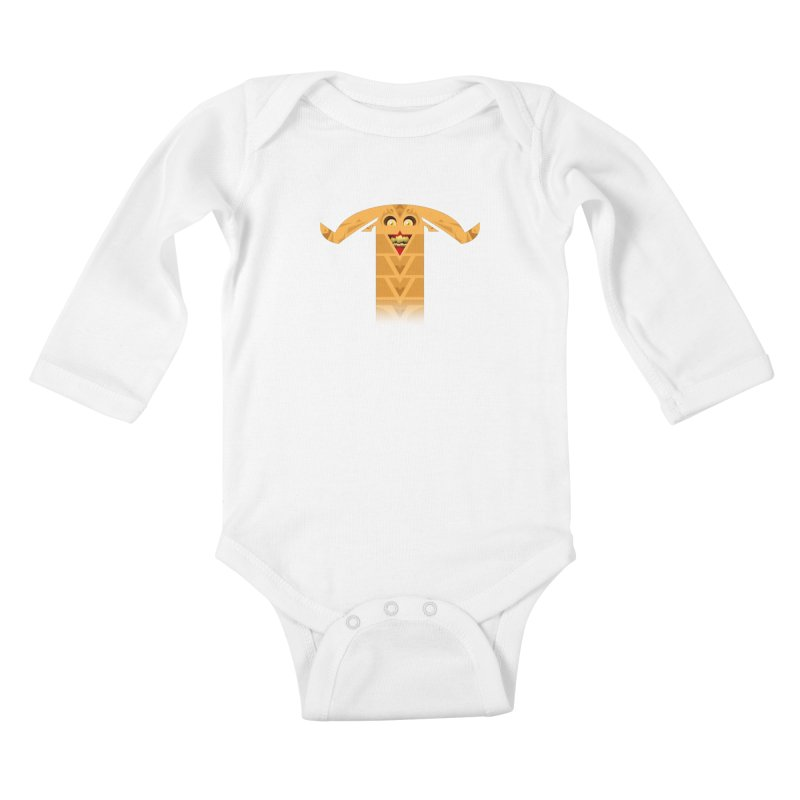 Mr. Yuchyux (orange smiling) Kids Baby Longsleeve Bodysuit by BEeow's Artist Shop