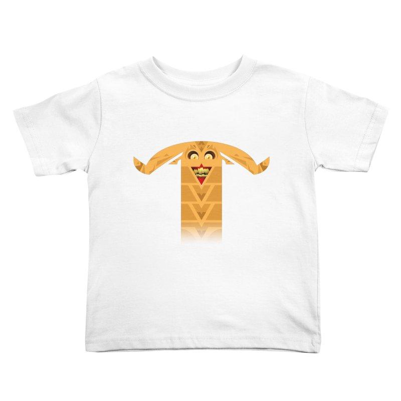 Mr. Yuchyux (orange smiling) Kids Toddler T-Shirt by BEeow's Artist Shop