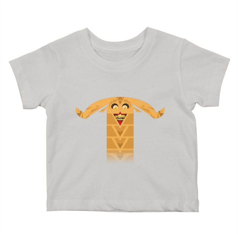 Mr. Yuchyux (orange smiling) Kids Baby T-Shirt by BEeow's Artist Shop