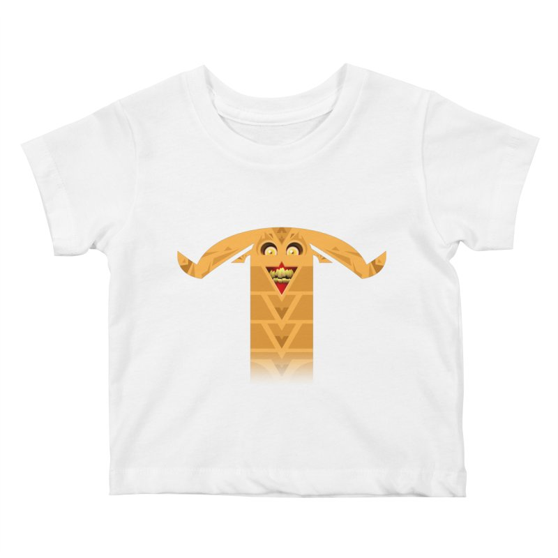 Mr. Yuchyux (orange smiling) Kids Baby T-Shirt by BEeow's Artist Shop