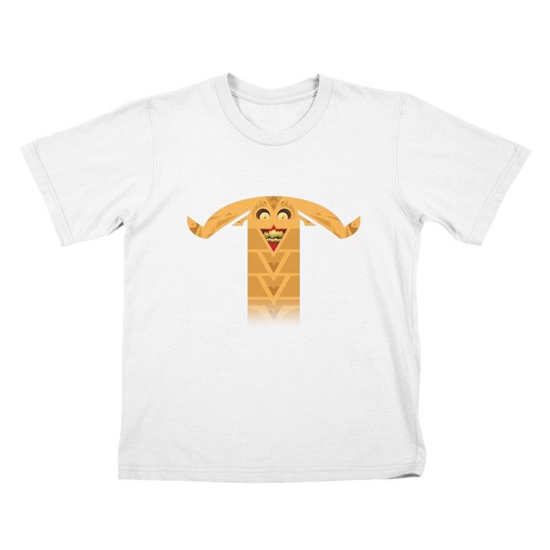 Mr. Yuchyux (orange smiling) Kids T-Shirt by BEeow's Artist Shop