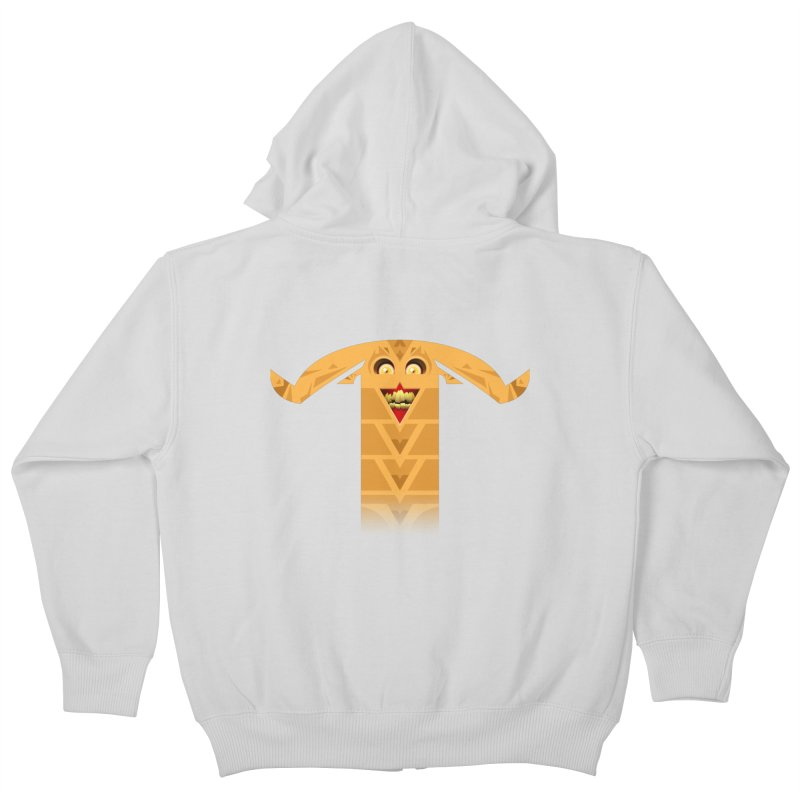 Mr. Yuchyux (orange smiling) Kids Zip-Up Hoody by BEeow's Artist Shop