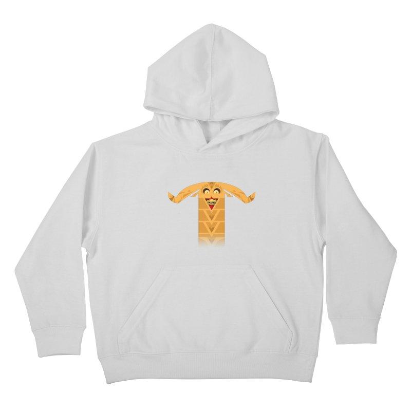 Mr. Yuchyux (orange smiling) Kids Pullover Hoody by BEeow's Artist Shop