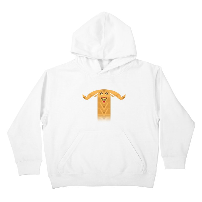 Mr. Yuchyux (orange smiling) Kids Pullover Hoody by BEeow's Artist Shop
