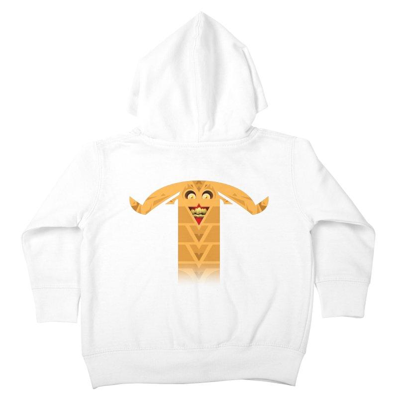 Mr. Yuchyux (orange smiling) Kids Toddler Zip-Up Hoody by BEeow's Artist Shop