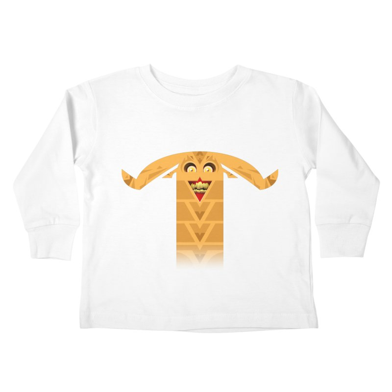 Mr. Yuchyux (orange smiling) Kids Toddler Longsleeve T-Shirt by BEeow's Artist Shop