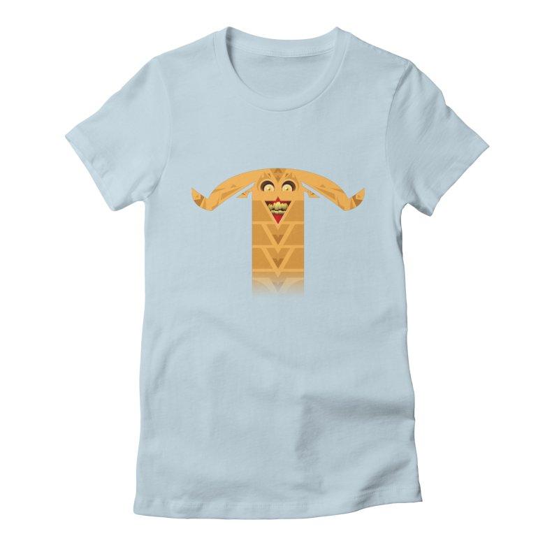 Mr. Yuchyux (orange smiling) Women's T-Shirt by BEeow's Artist Shop