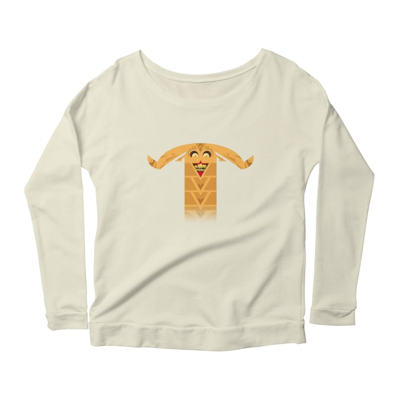 Mr. Yuchyux (orange smiling) Women's Longsleeve Scoopneck  by BEeow's Artist Shop