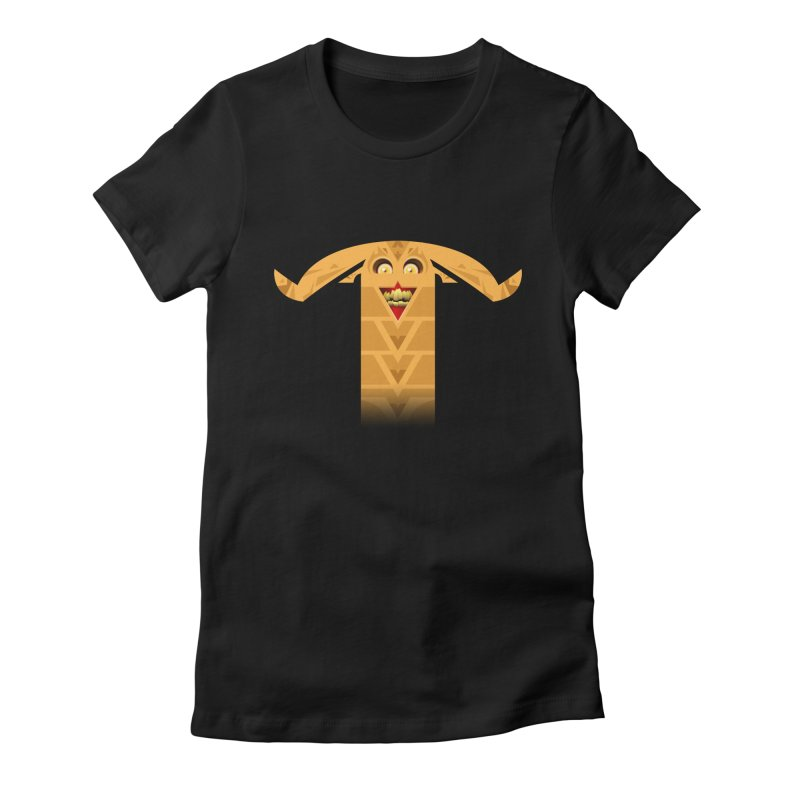 Mr. Yuchyux (orange smiling) Women's Fitted T-Shirt by BEeow's Artist Shop