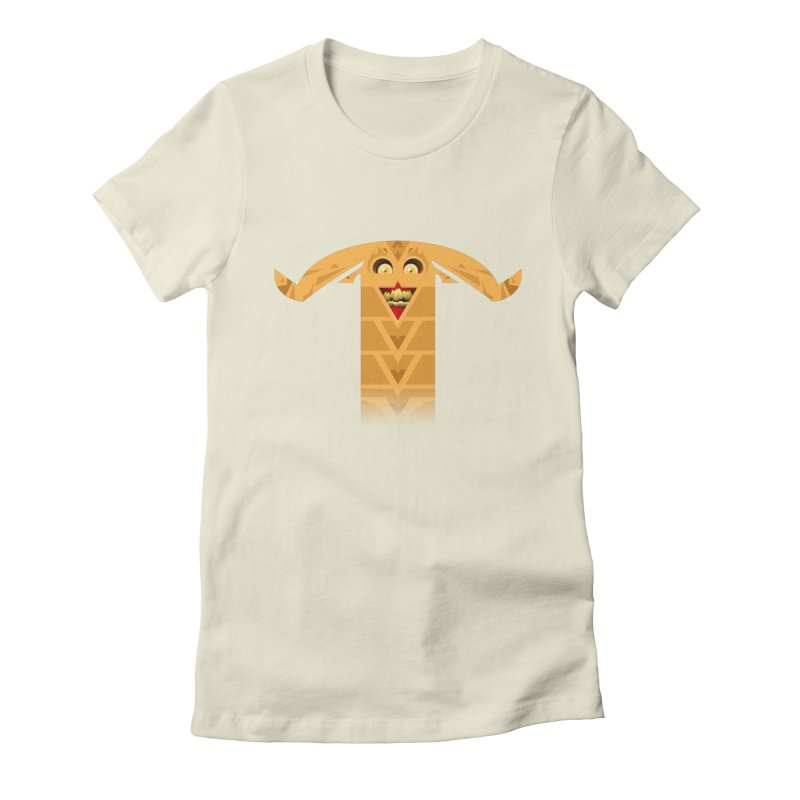 Mr. Yuchyux (orange smiling) Women's Fitted T-Shirt by BEeow's Artist Shop